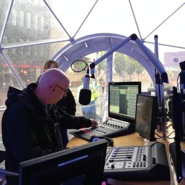 Ken Bruce in the Studio